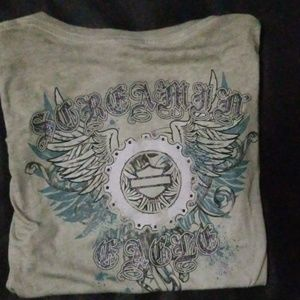 3 Harley Davidson womans tee shirts